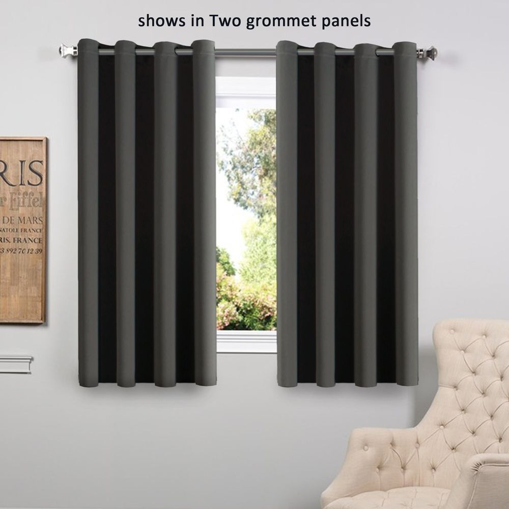 Under window decor  details about flamingop easy care room darkening thermal blackout