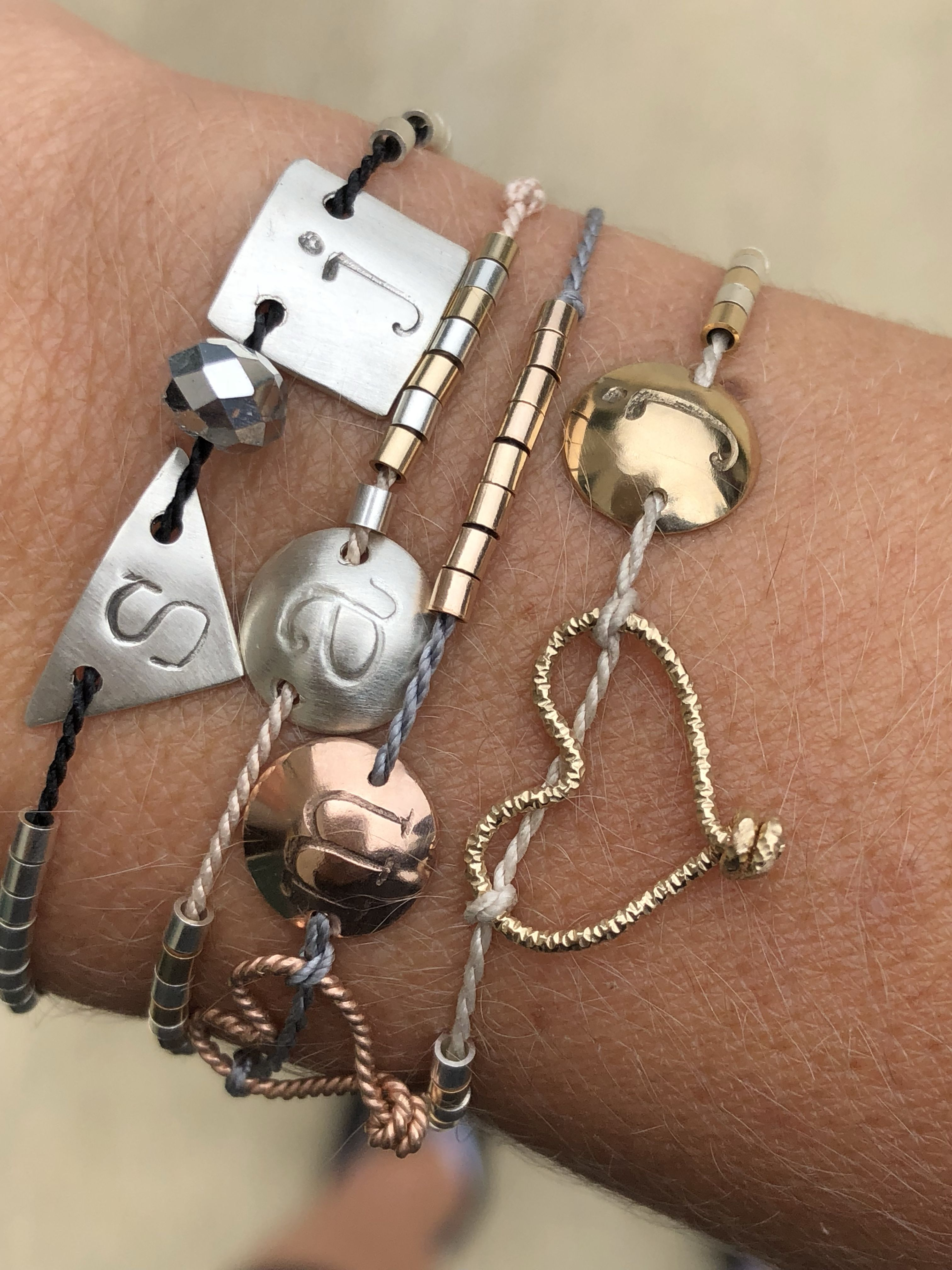 df64e4b33622d Gorgeous dainty stacking bracelets! These would make great ...