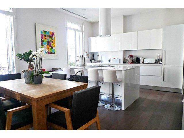 Idées De îlot Central De Cuisine Fonctionnel Et Convivial - Ilot centrale table a manger pour idees de deco de cuisine