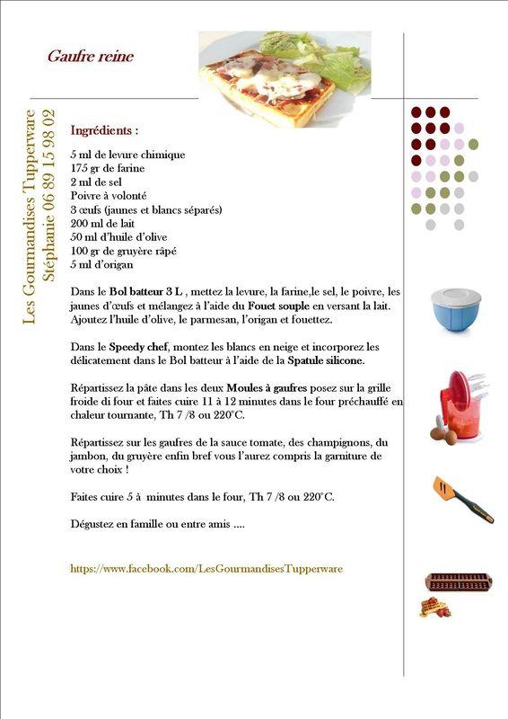 Gaufre reine , Les gourmandises Tupperware