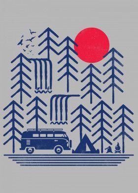 "Geometric Nature by rocket man | metal posters - Displate #homedecor explore Pinterest""> #homedecor… | Displate thumbnail"