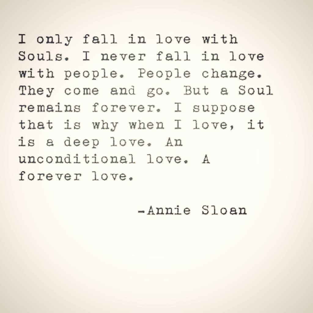 Real men fall in love with souls