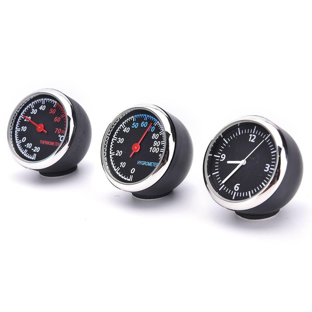 Car digital thermometer hygrometer mechanical quartz clock