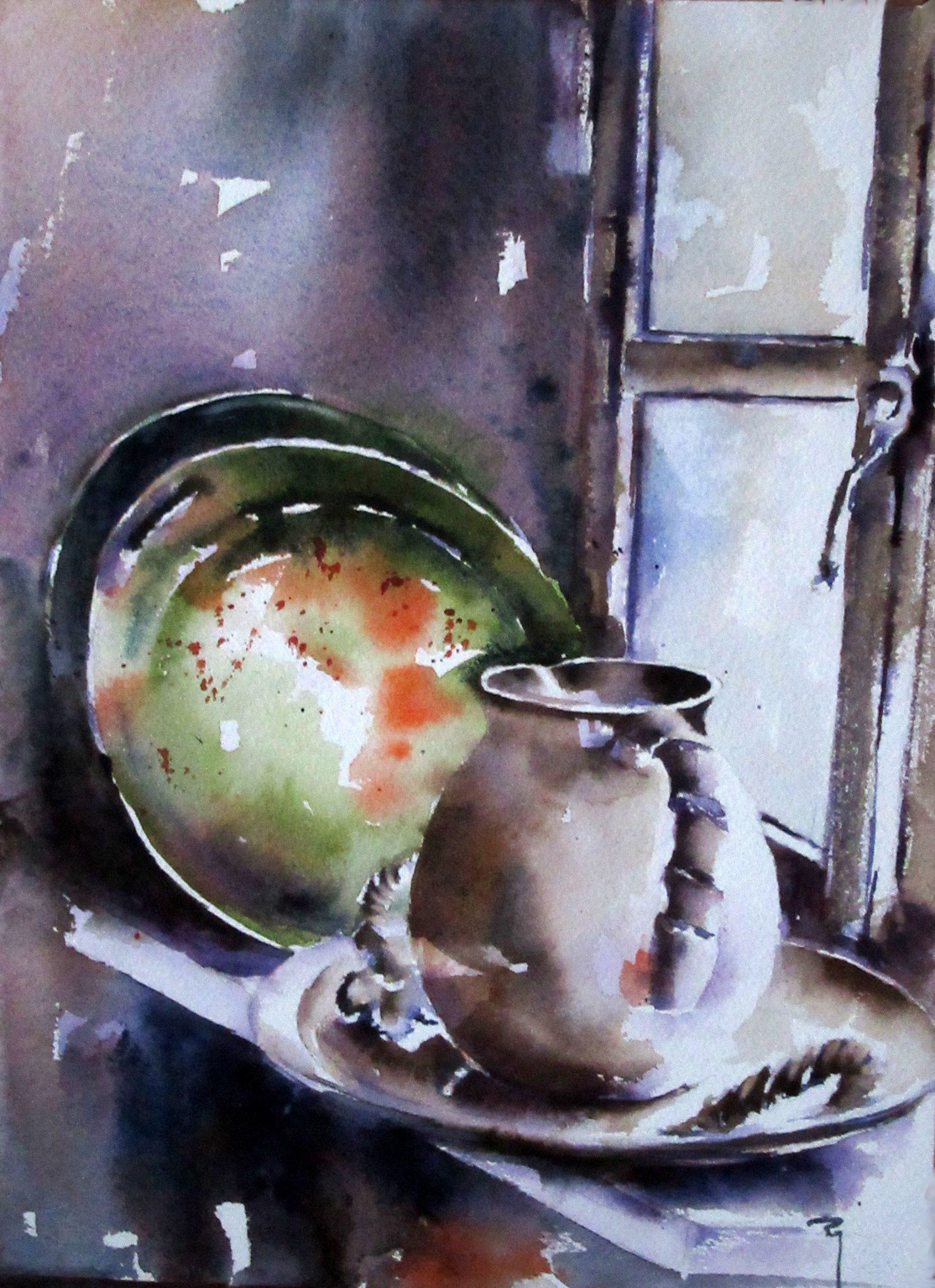 Pop Of Unexpected Color Still Life Art Watercolor Art