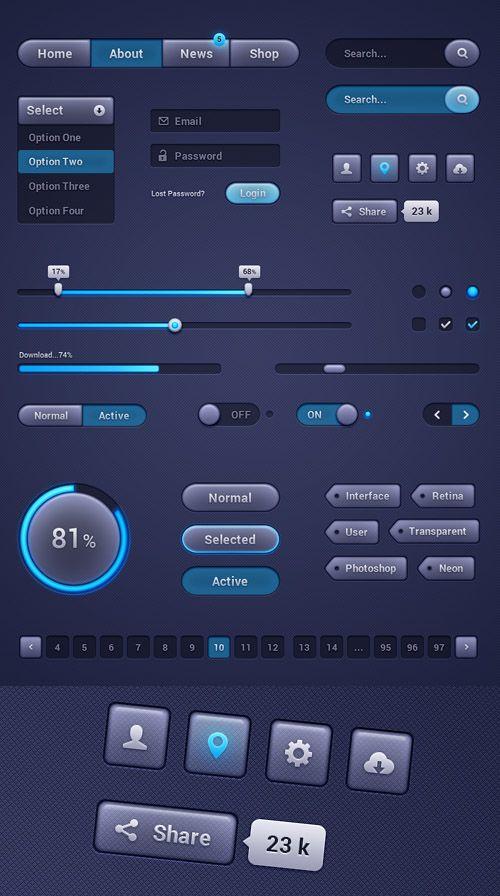 Beautiful UI Design Framework – Design by Raul Taciu #uikits ...