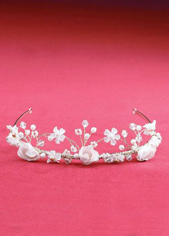 Twisted Wire Silk Flower Crown - David's Bridal