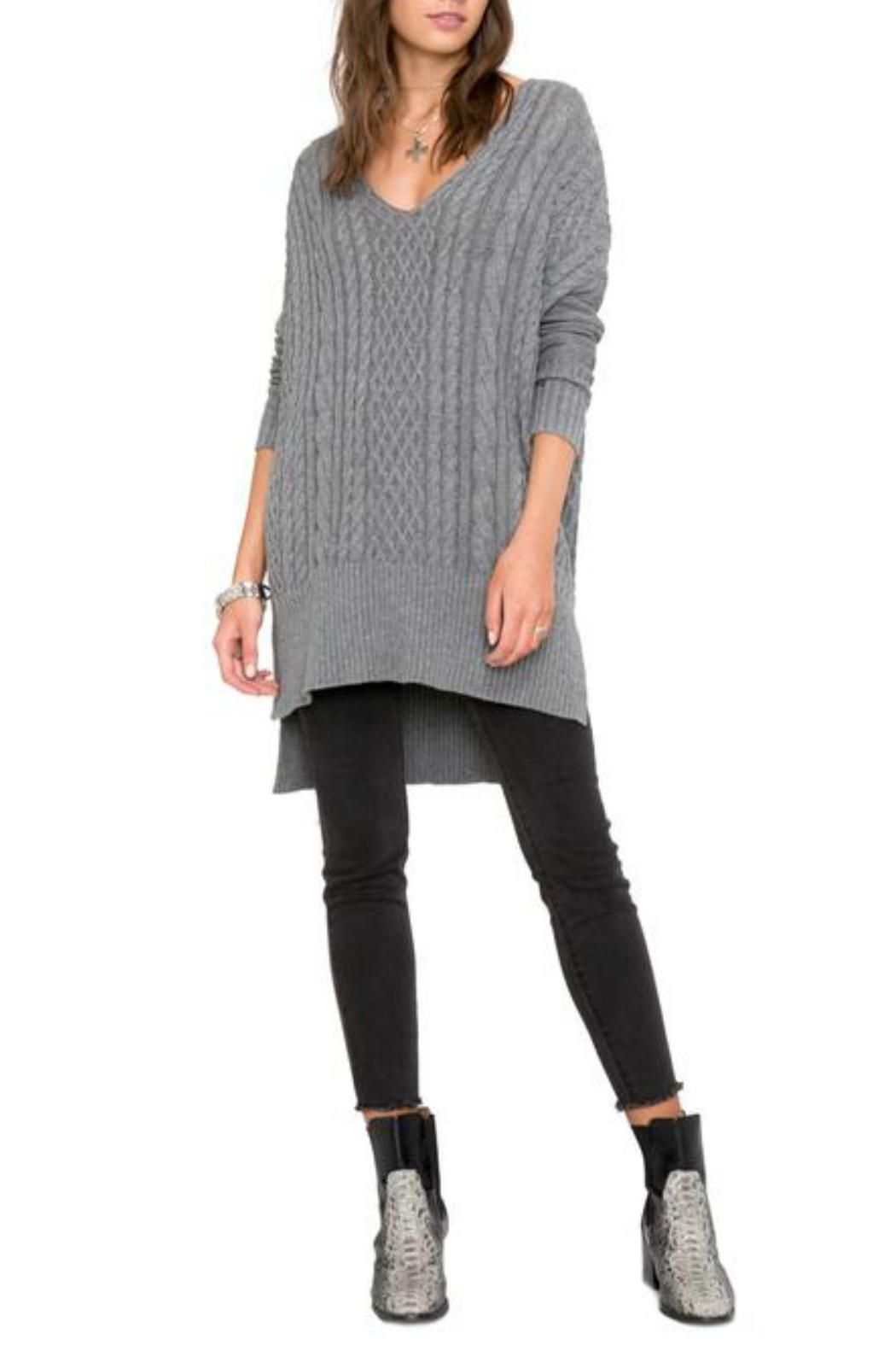 AMUSE SOCIETY Grey Long Sweater | Long sweaters and Cotton sweater