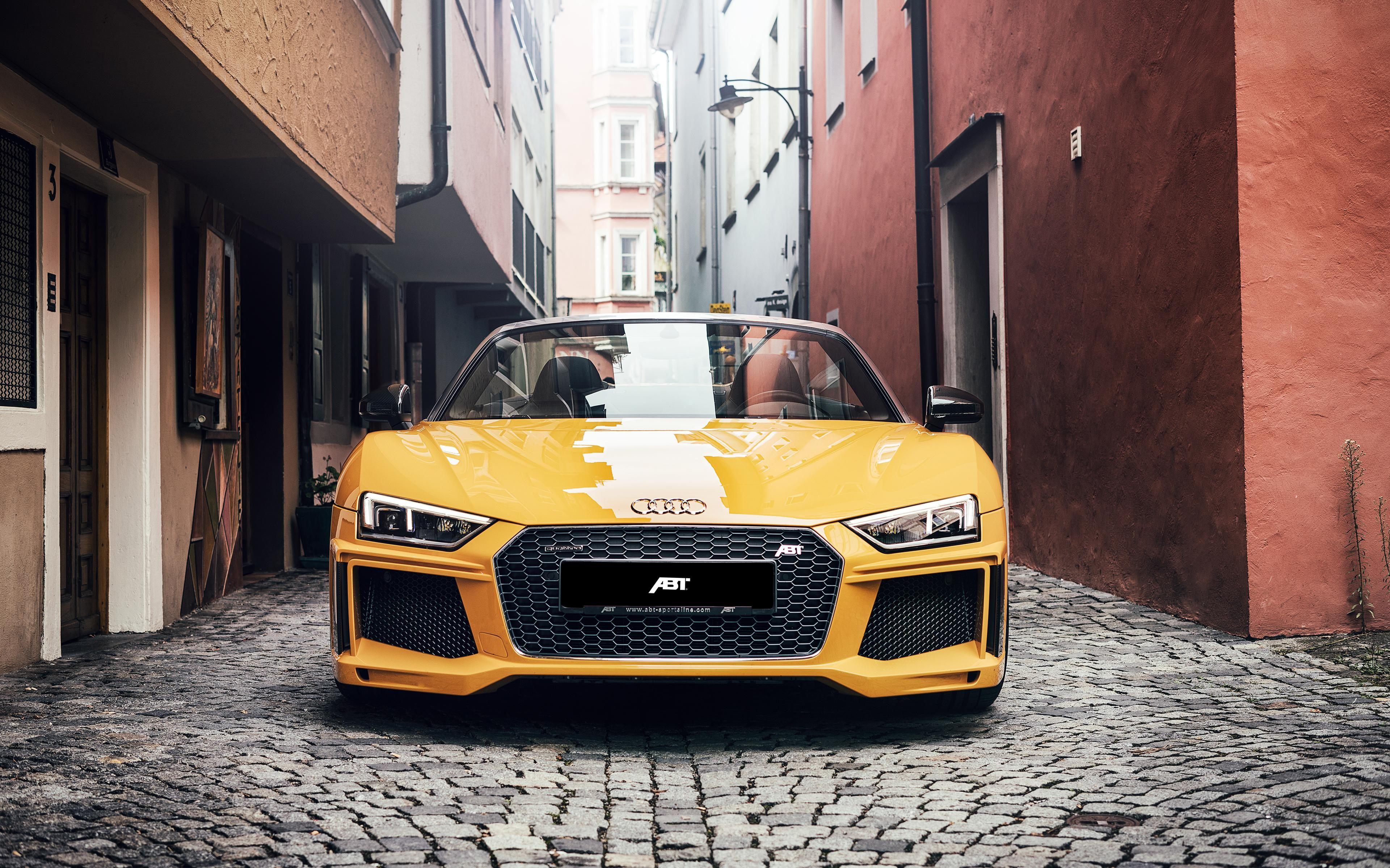 Yellow Audi Audi R8 Spyder Audi R8 Car Wallpapers