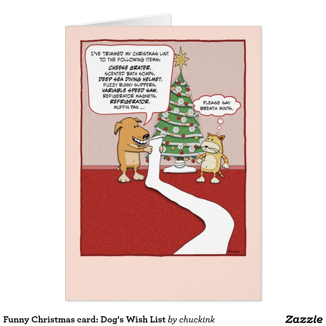 Funny christmas card dogs wish list funny christmas holidays funny christmas card dogs wish list kristyandbryce Image collections