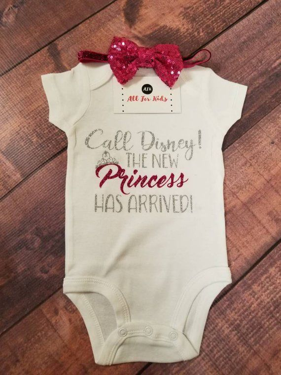 Baby Girl Clothes, Call Disney The New Princess Has Arrived! Bodysuit  - Awesome -