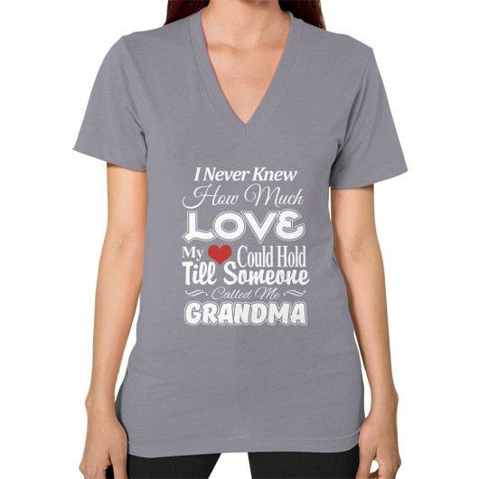 Grandma love V-Neck (on woman)