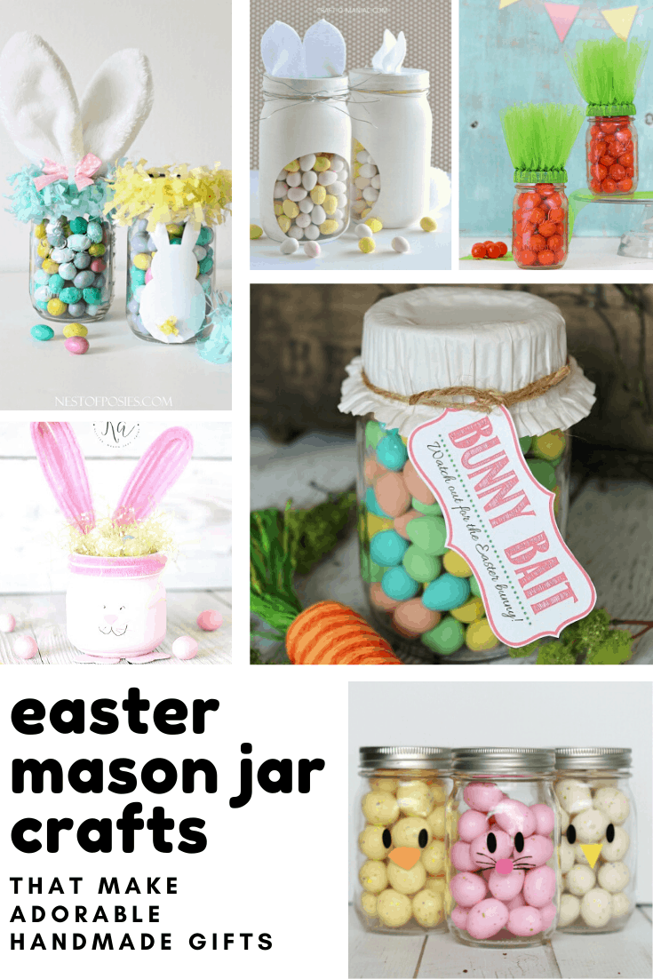 13 Mason Jar Crafts For Easter That Would Make The Easter Bunny Jealous In 2020 Jar Crafts Mason Jar Crafts Easter Mason Jars