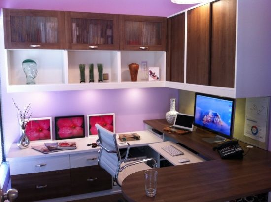 Color Popping Eye Catching  Home Office Created By Hobbs Closets