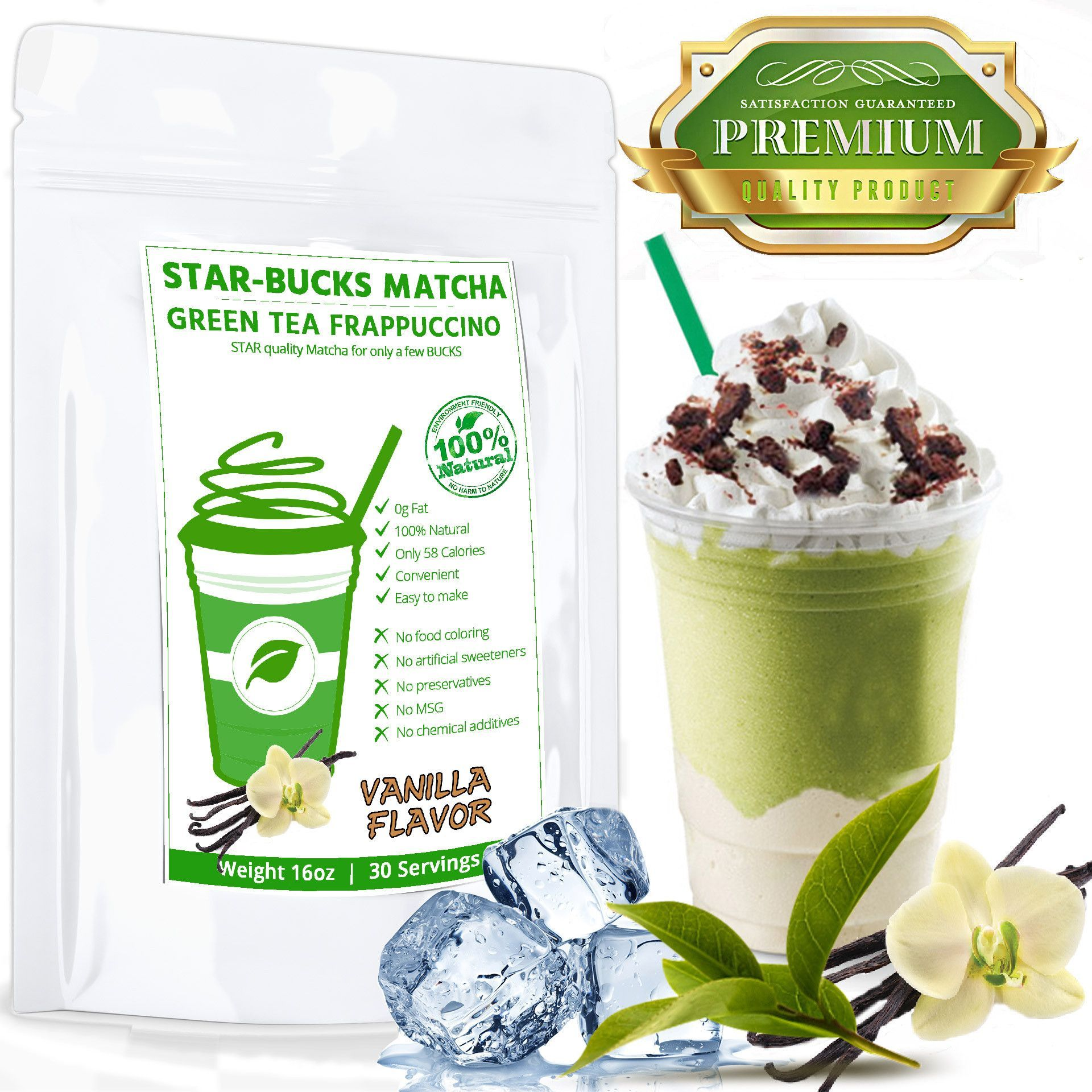 Sweet Japanese Matcha With Vanilla Flavor