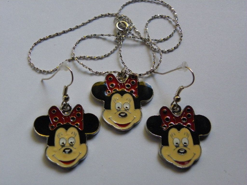Dangle Mine Mouse Earring & Necklace Set   4 by ritascraftsandmore on Etsy