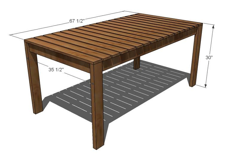 Simple Outdoor Dining Table I Am So Going To Make This