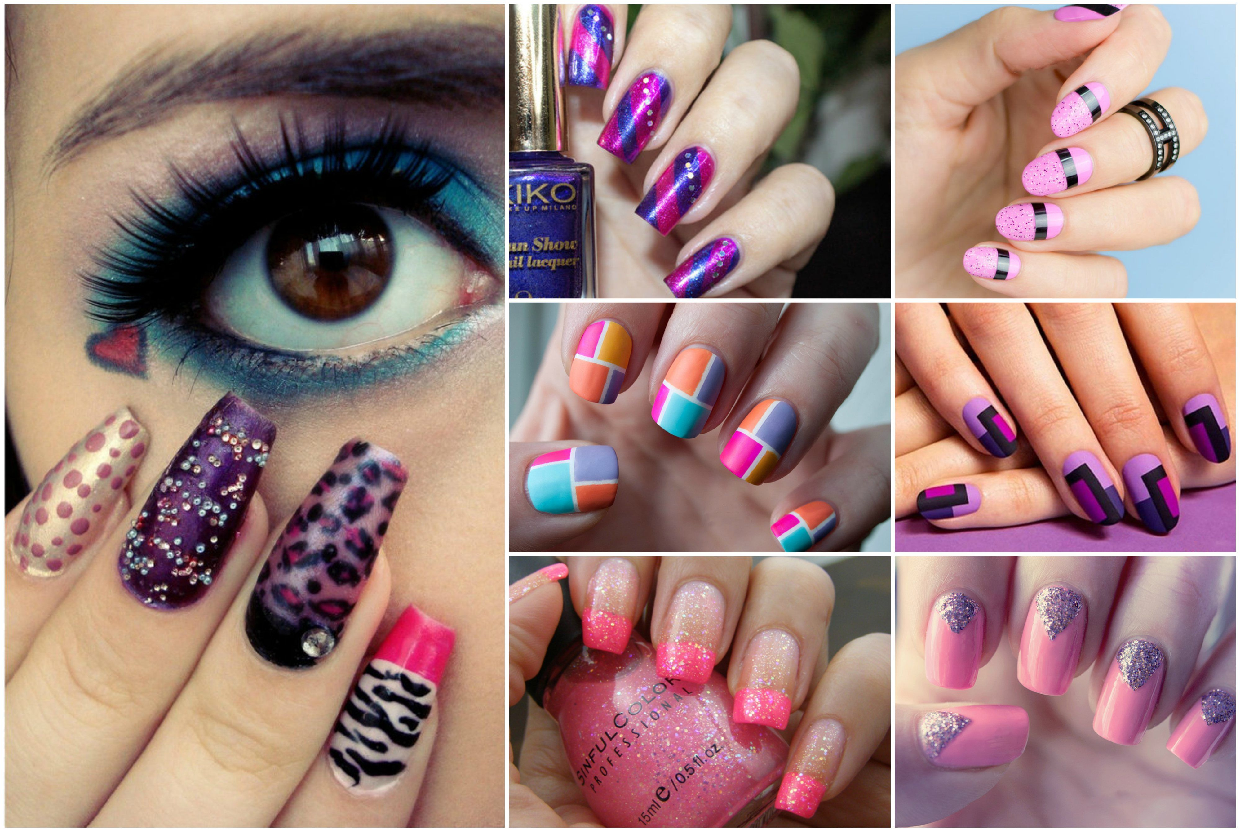 Manicure violet: a way of creating and ideas