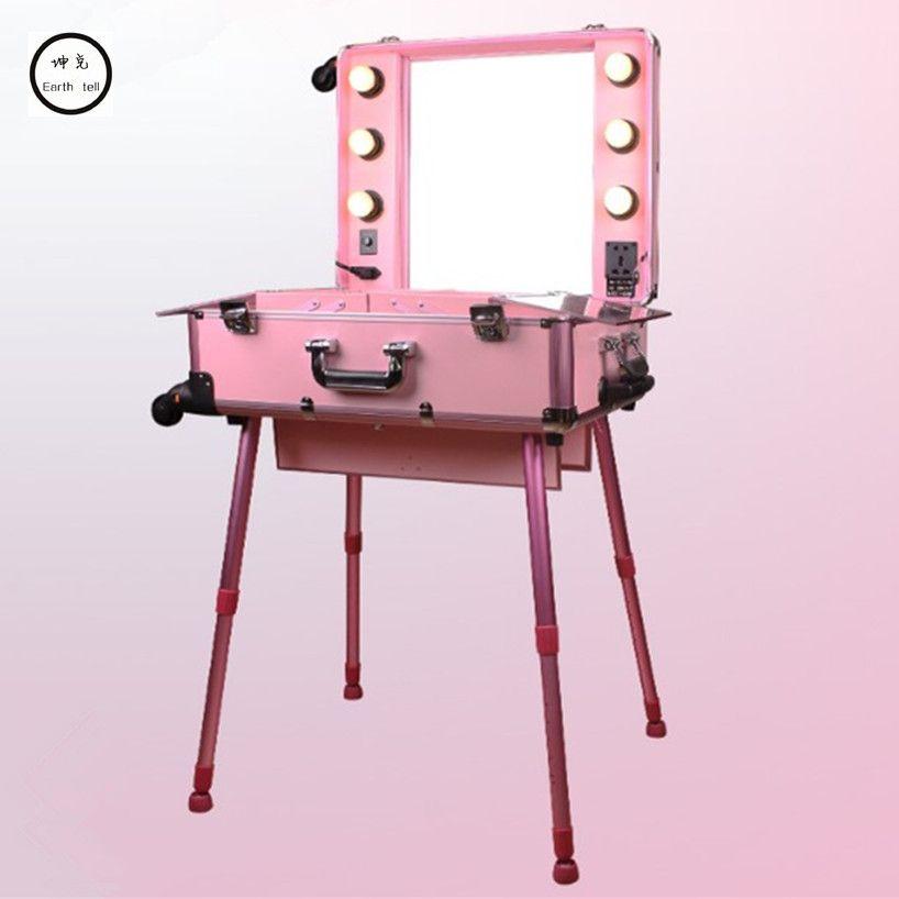 Aluminum Frame Professional Rolling Studio Makeup Artist Cosmetic