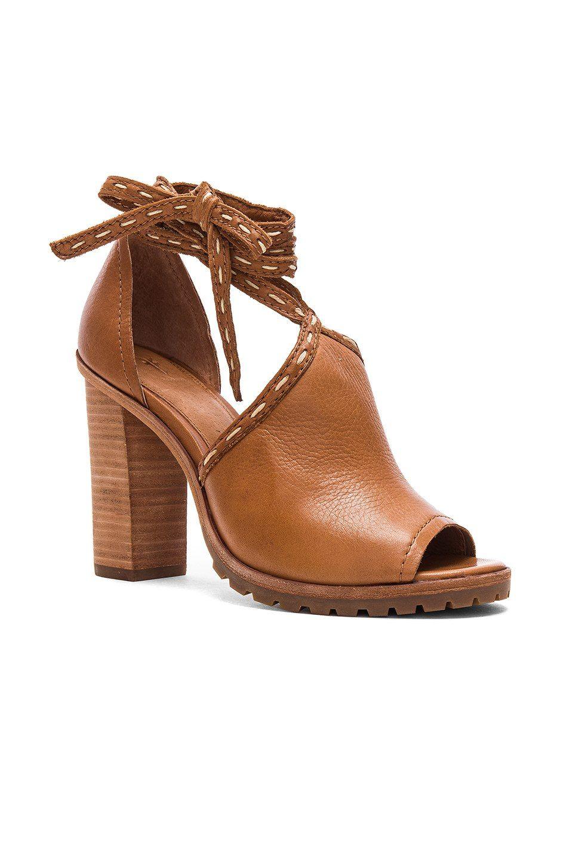 Frye Suzie Pickstitch Heel in Whiskey | REVOLVE