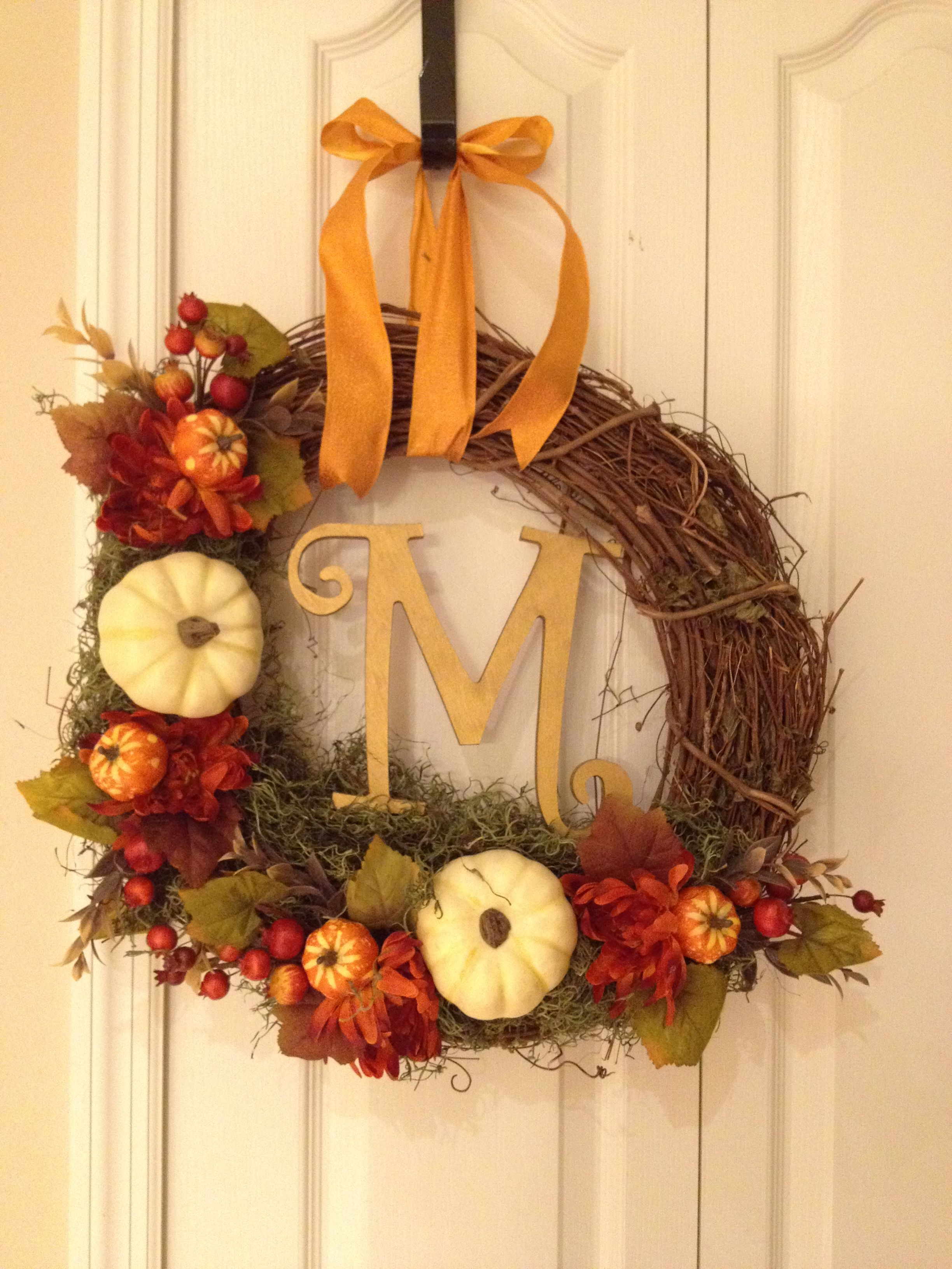 Fall Decor To Make Fall Decor Diy Autumn Wreath Took A Total Of Two Hours