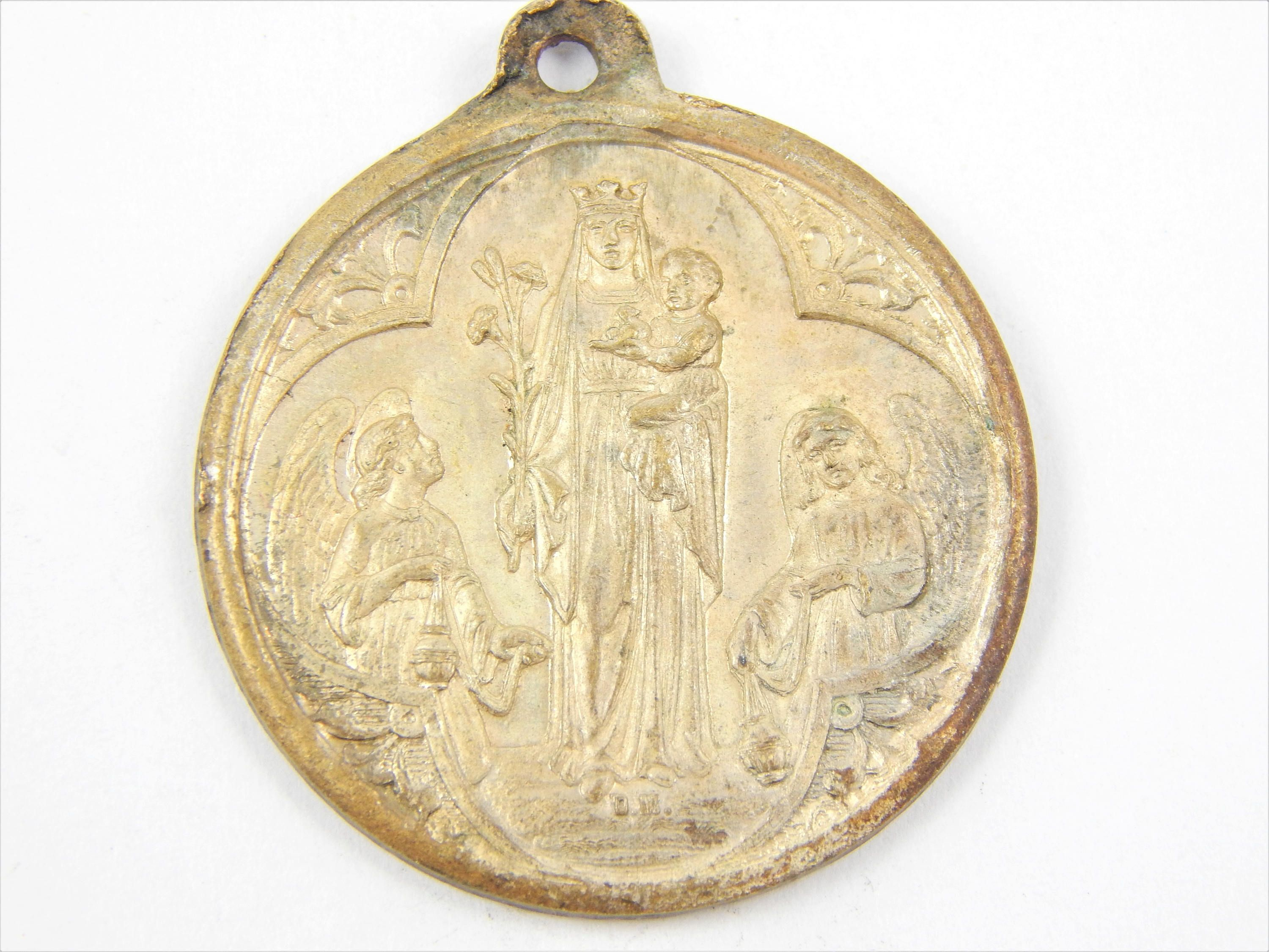 antique p metal with amulet medal charm orthodox fullxfull catholic saint il medallion religious
