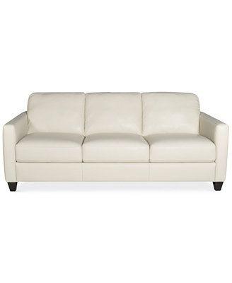 Emilia Leather Sofa Furniture Macy S Leather Sofa Furniture Leather Sofa Living Room Sofa