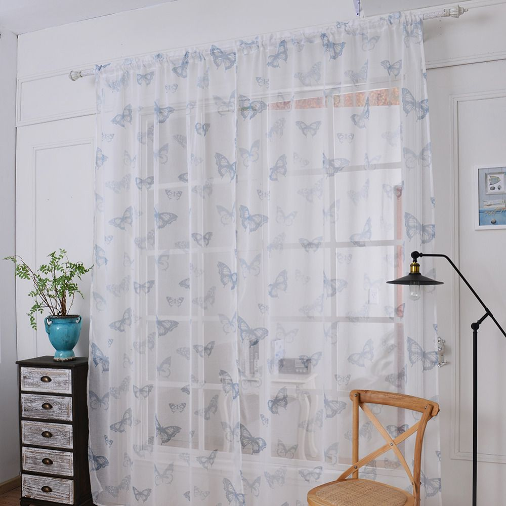 New Style 1 pcs 145 * 180 cm Window Curtains Sheer Voile Tulle for ...