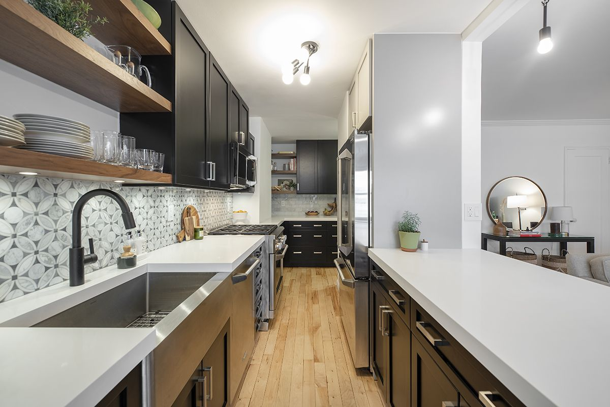 The Art Of Joyful Organizing For Your Nyc Apartment With Images Kitchen Design Small Galley Kitchen Design Kitchen Design