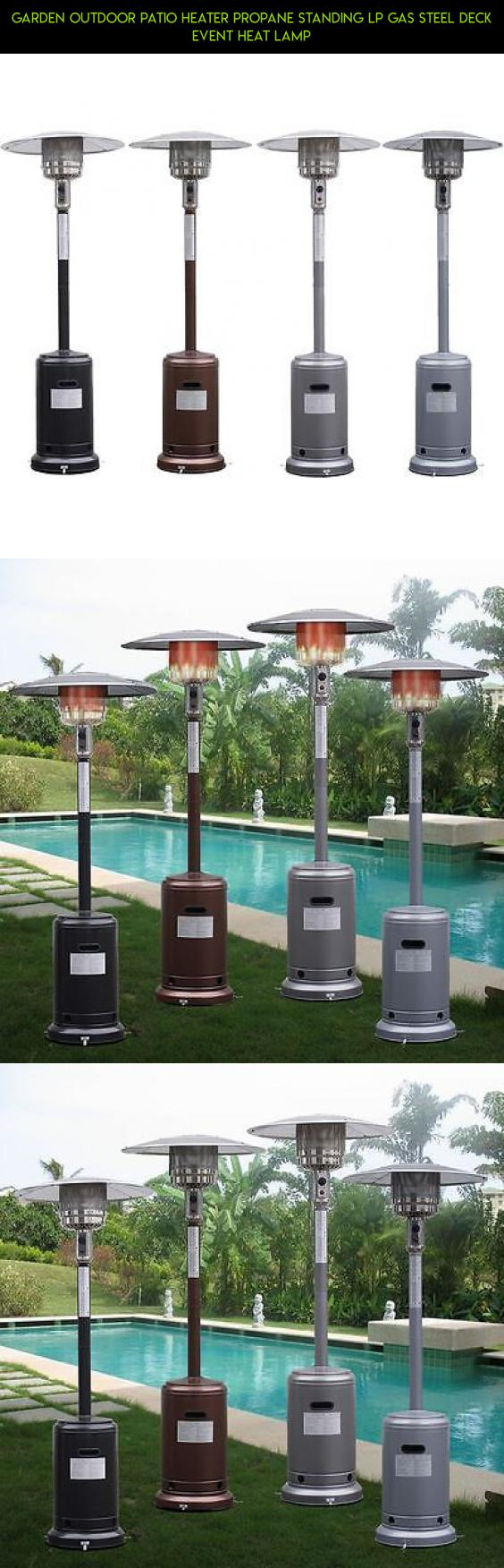 Garden Outdoor Patio Heater Propane Standing LP Gas Steel Deck Event Heat  Lamp #products #