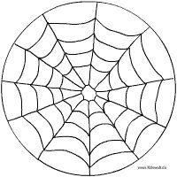spinnennetz-mandala mit bildern | spinnennetz, spinne, papier kind
