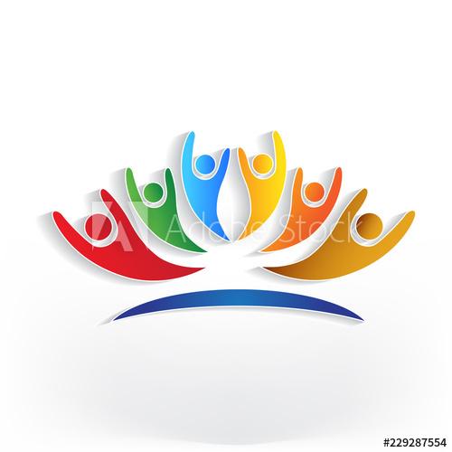 Friends Forever Stay Together Unity Logo Church Logo Design Teamwork