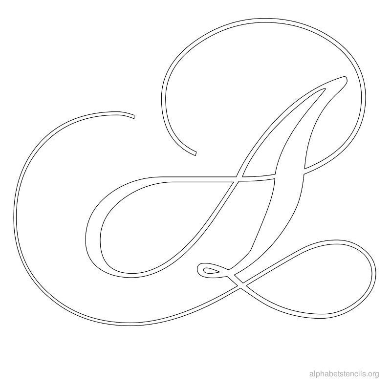 Clever image with calligraphy stencils printable