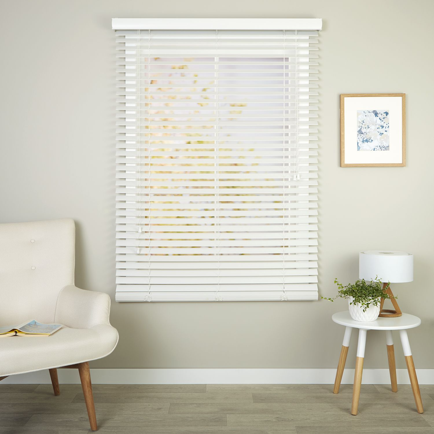 Richmond White Readymade Ecowood Venetian Blind Curtain Studio Buy Curtains Online Venetian Blinds Blinds Curtains With Blinds