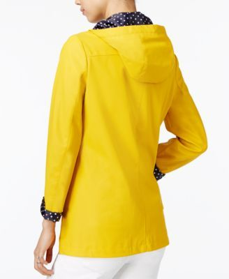 Maison Jules Hooded Raincoat, Only at Macy's - Yellow S