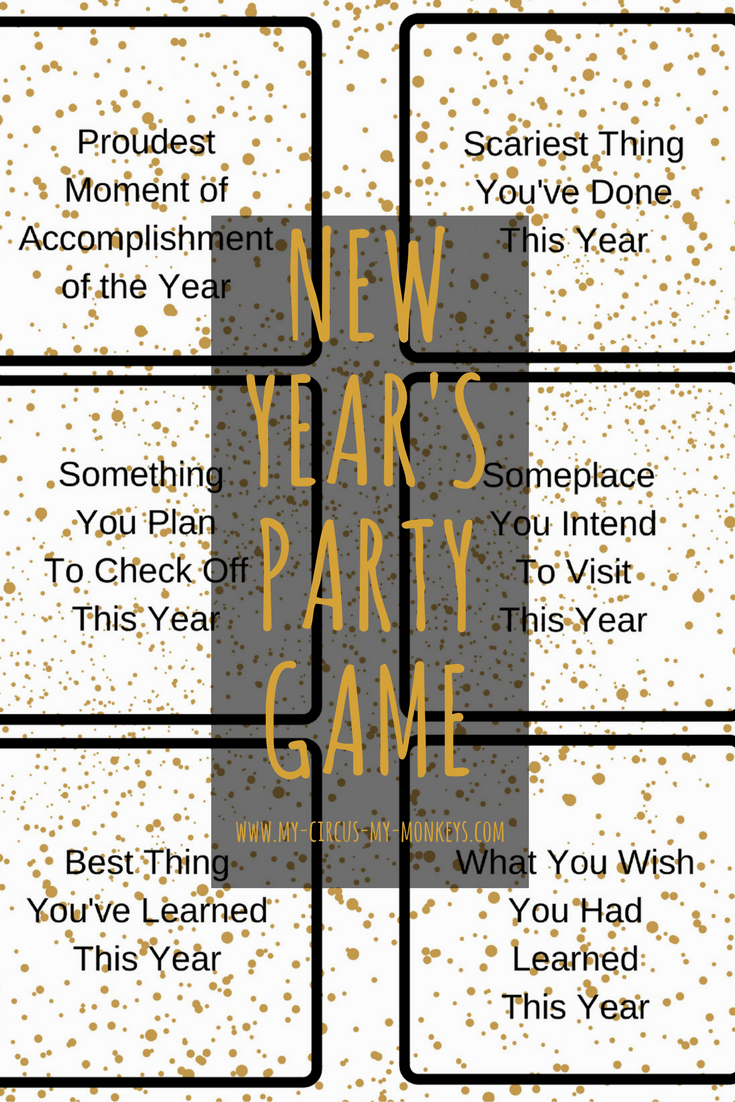 This New Year's Eve Party Game is fun because you get to remember and reminisce on all the good (and funny) things that have happened throughout the year.