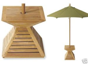 Grade A Teak Wood Umbrella Stand Cover Umbrella Base Outdoor Garden Patio New Patio Umbrella Stand Patio Umbrella Patio