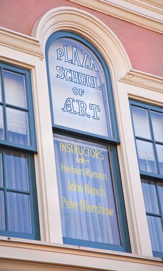 Windows on Main Street, U.S.A., at Disneyland Park: Herb Ryman