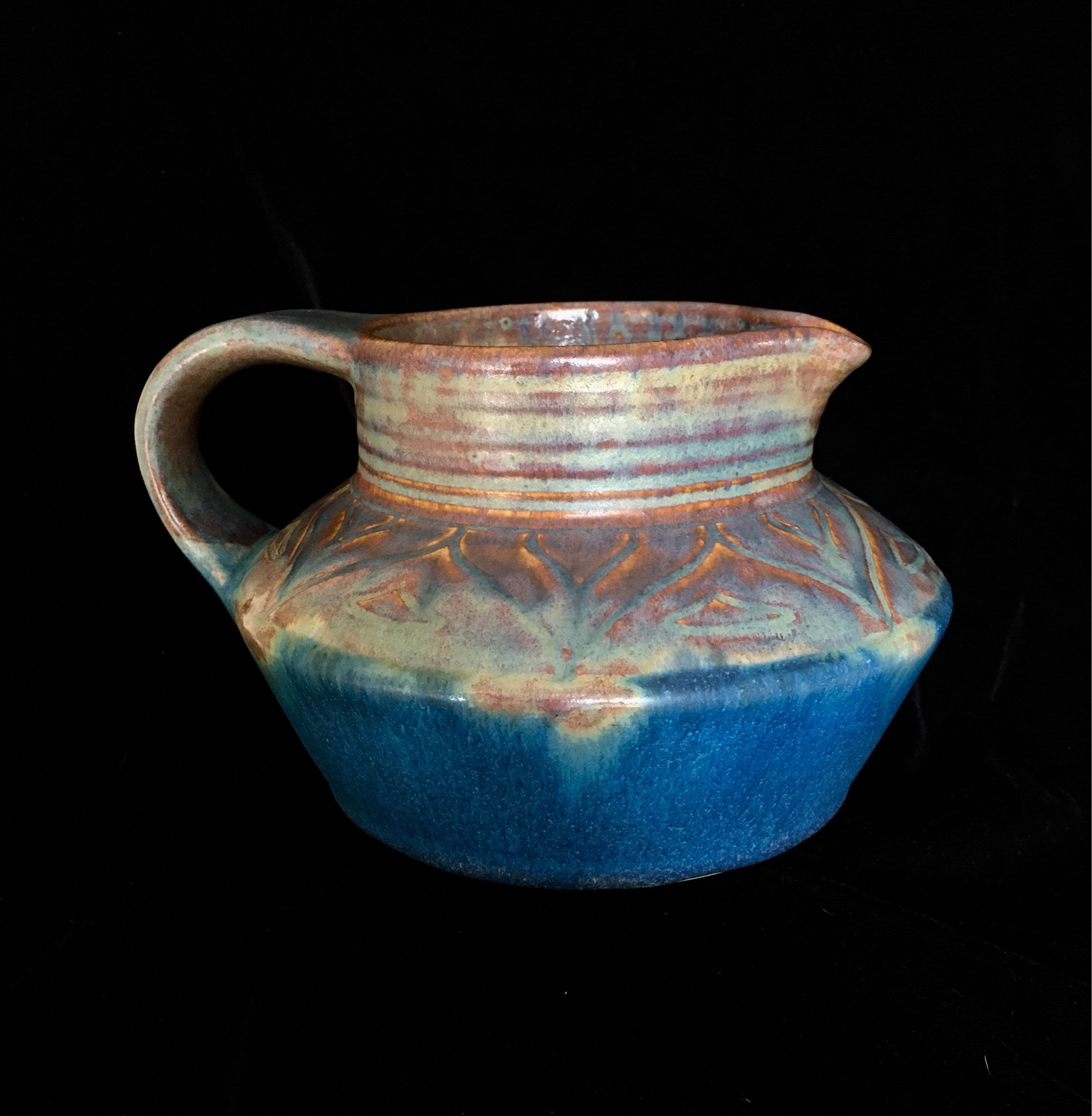 early 1930 superb condition Danesby Orient Ware Jug in /'Ilam/' shape by Bourne Denby of England c 1920