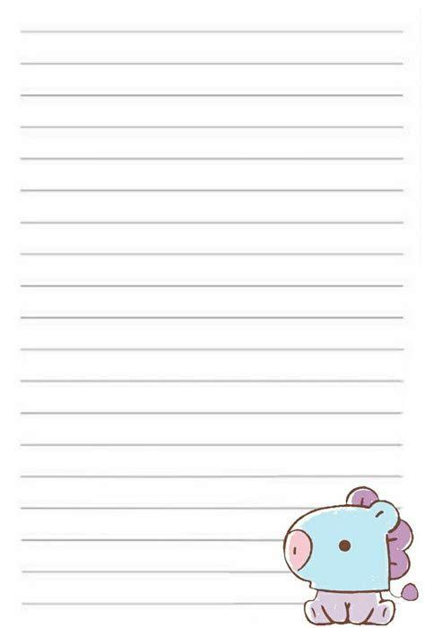Page D'écriture Bt21 Mang | Kartu Catatan, Seni Buku