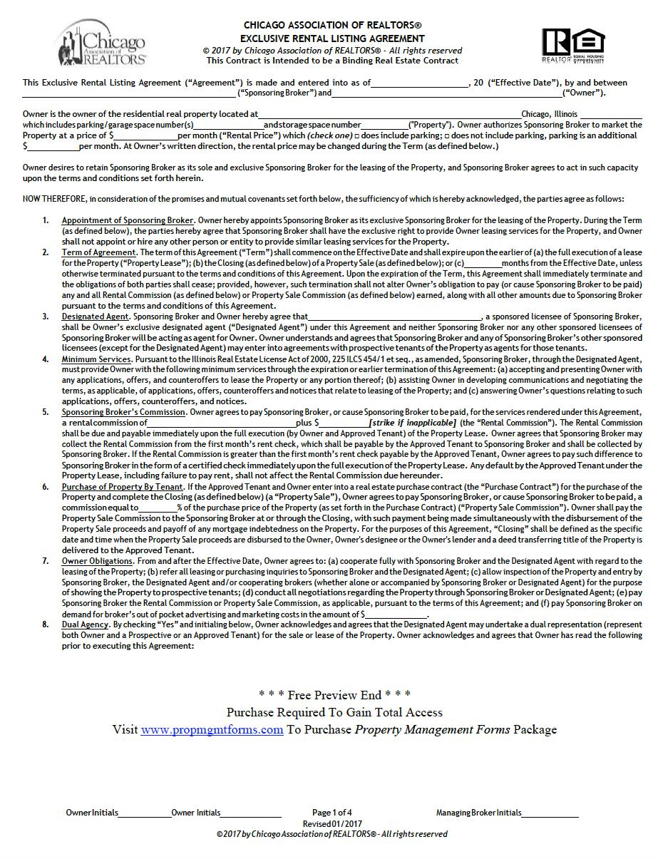 Illinois Property Management Agreement Property Management Agreement Management
