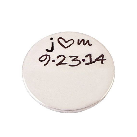 Hand Stamped Personalized Plate for Floating by deepexpressions