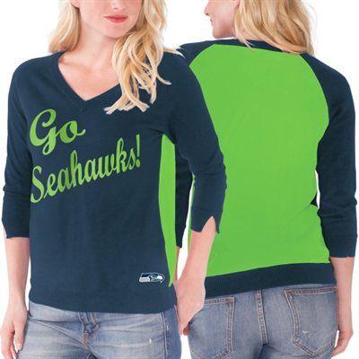 Seattle Seahawks Touch by Alyssa Milano Women's MVP Summer Sweater ...