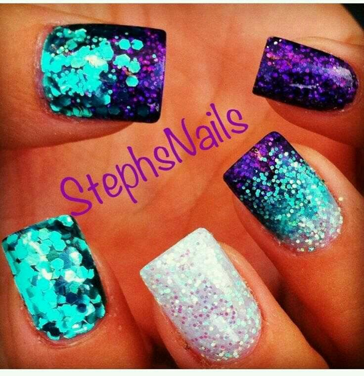 AMA TM Transfer Decorations Multicolor | Mermaid nails, Mermaid nail ...