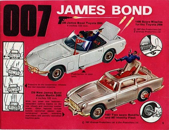 I had the Goldfinger Aston Martin Corgi toy car, complete with ...