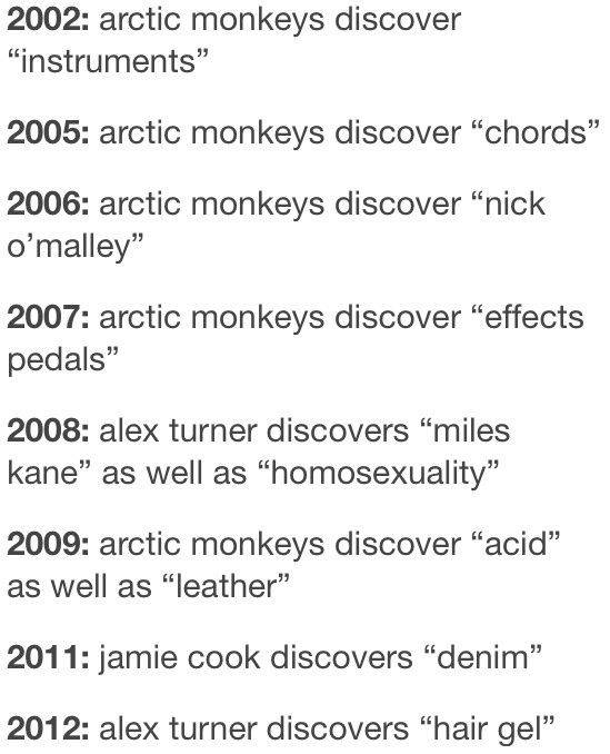The history of The Arctic Monkeys u2022○Arctic Monkeys - email invoices