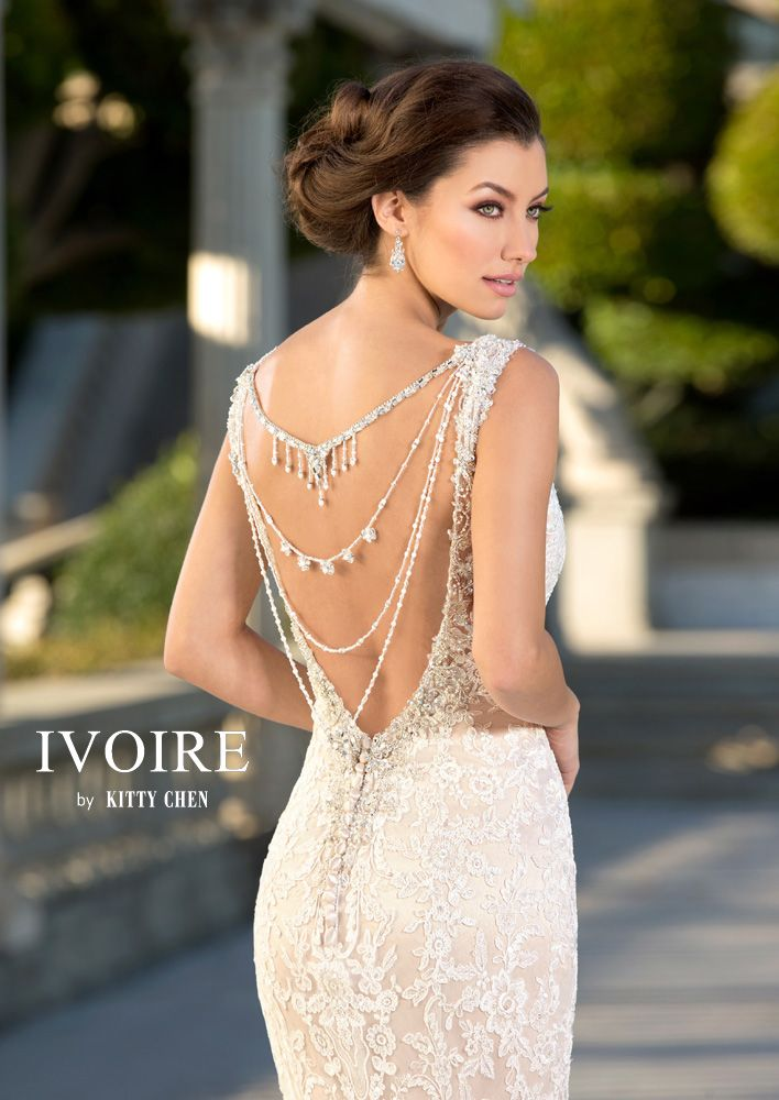 2016 Ivoire By Kitty Chen New York Back Necklaces Featuring Virgo Wedding Dress Backs Wedding Dresses Bridal Dresses