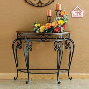 Ordinaire Continental Foyer Console Table, Wrought Iron Semi Circle Wall Desk The Desk  Leisure Desk