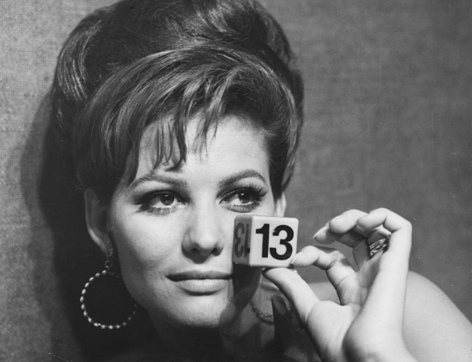 Claudia Cardinale in the film The Magnificent Cuckold, 1964.