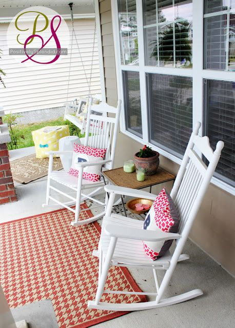 Positively Splendid {Crafts, Sewing, Recipes and Home Decor}: Summer Front Porch Tour
