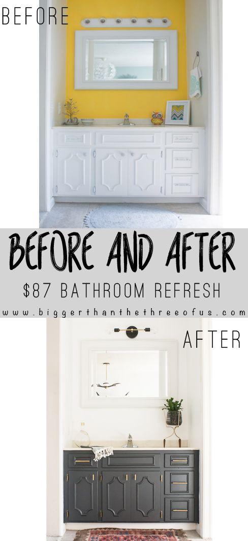 Bathroom Nook minimal modern bathroom nook reveal for $87   nooks, cabinets and 87
